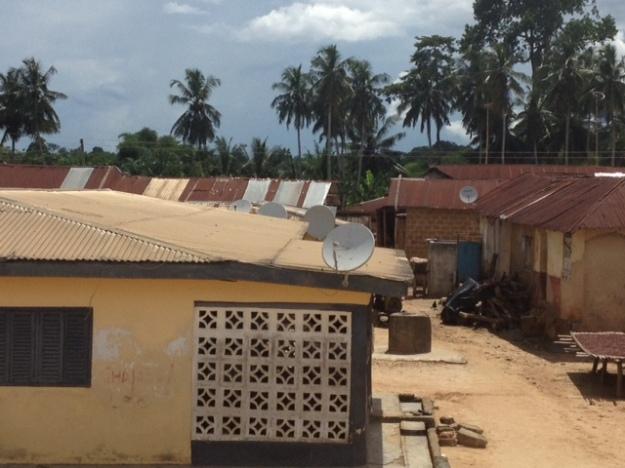 ガーナの田舎町