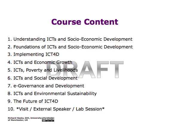 Heeks ICT4D Textbook